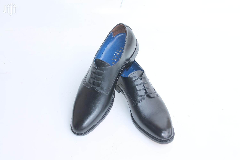 Plain Derby Shoes Mens Black