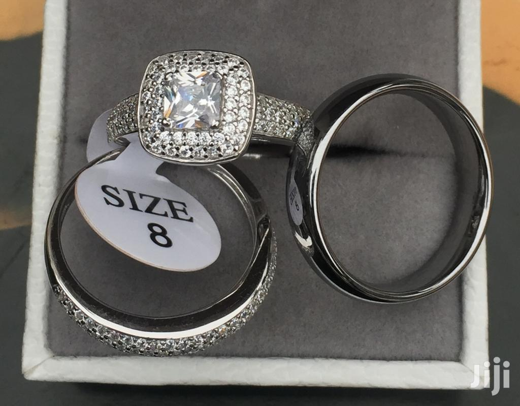 1.6 Carats Sterling Silver And Tungsten Carbide Rings