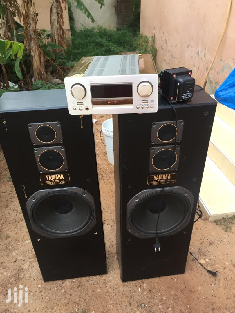 Yamaha Amp With Speakers