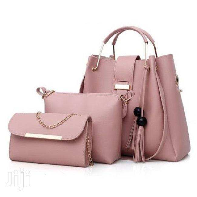 Archive: 3-In-1 PU Leather Shoulder Bag Set – Pink