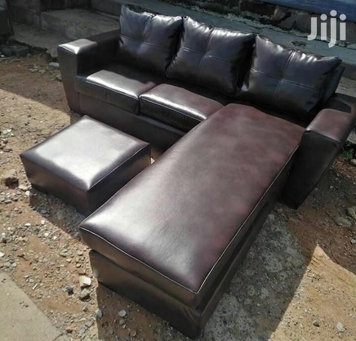 Archive: Leather L Shape Sofa
