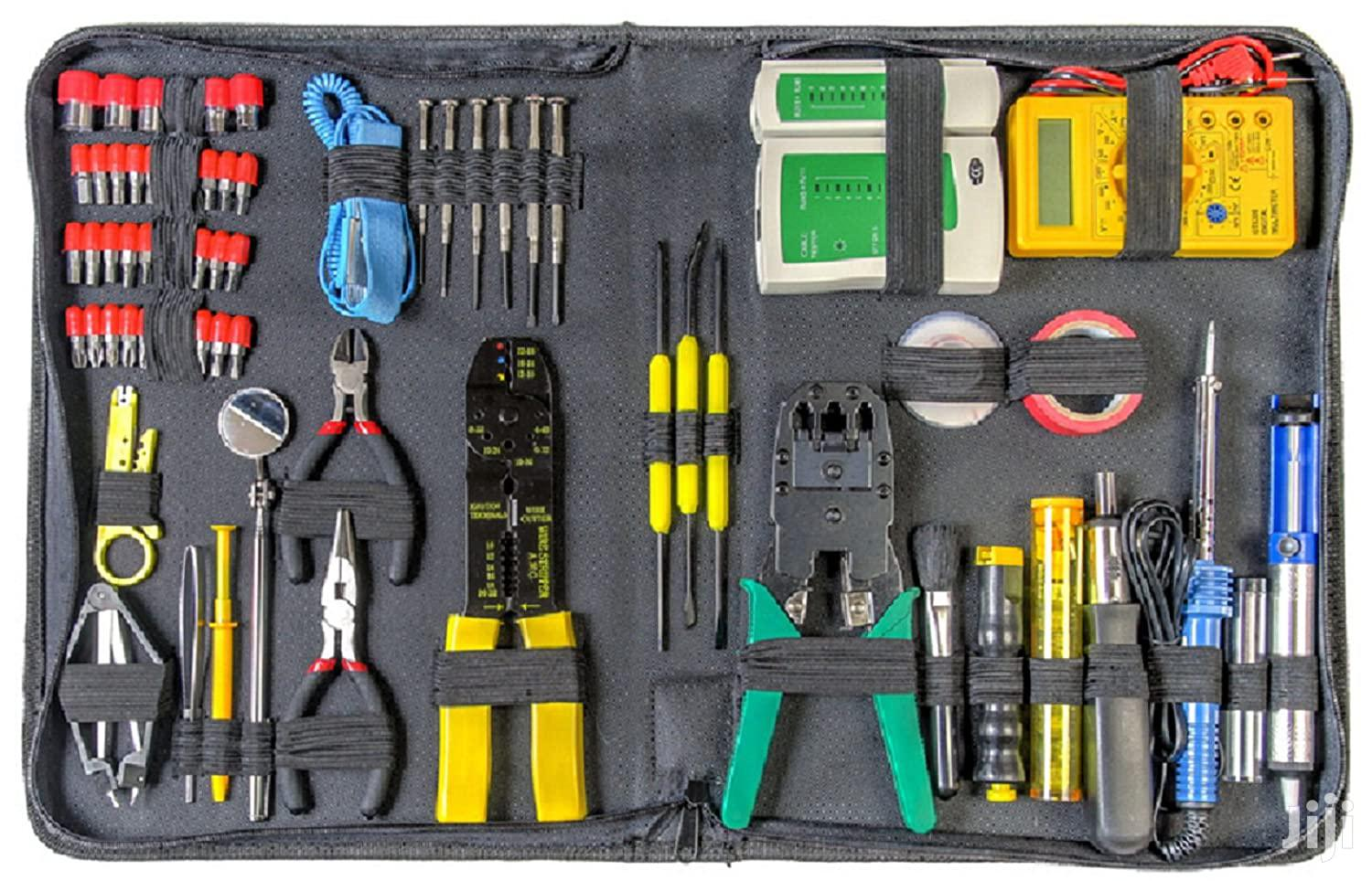 66 Piece PC Repair Toolkit With Network Tester