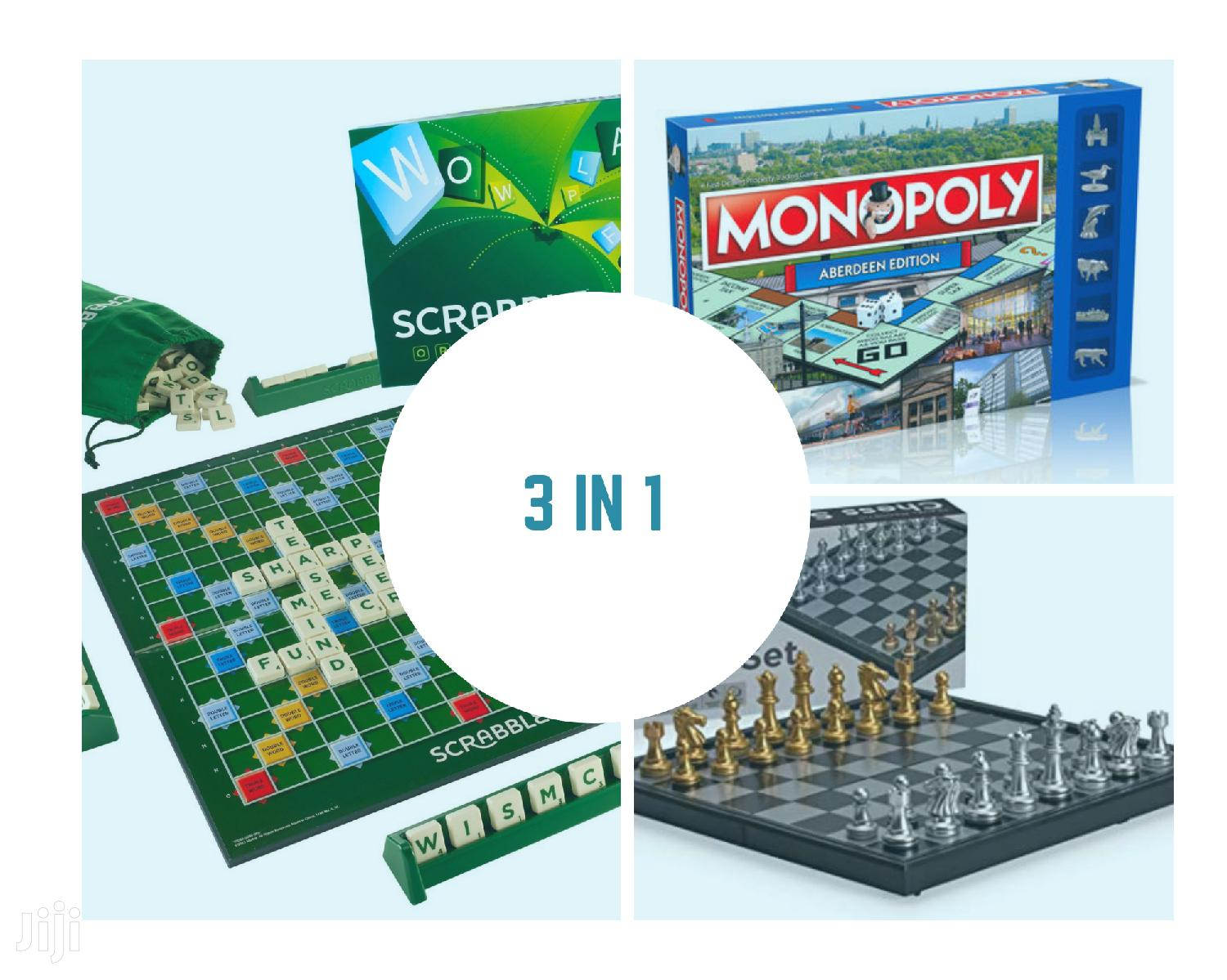 Queen Size Package Scrabble, Chess Monopoly