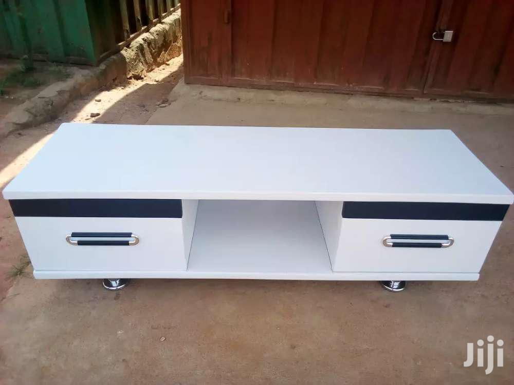 All White With Small Black Tv Stands | Furniture for sale in Kwashieman, Greater Accra, Ghana
