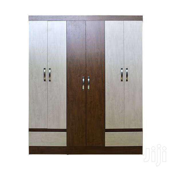 WOODEN WARDROBE 6 DOORS 2 DRAWERS  Big