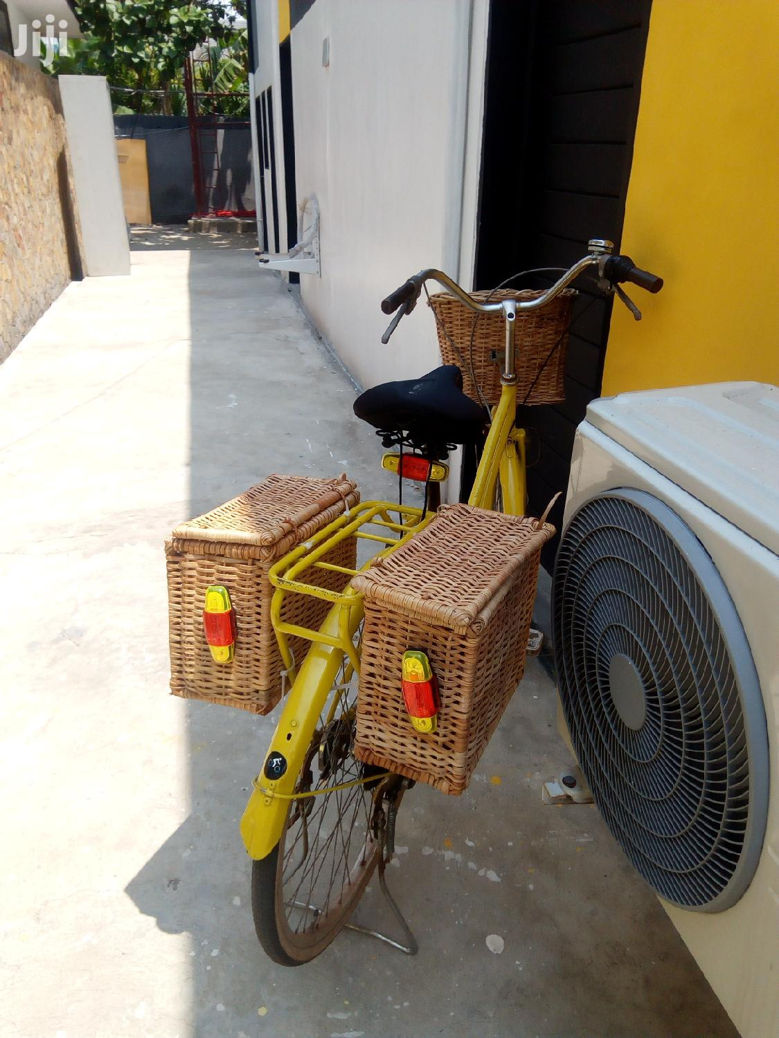 Archive: City Unisex Bicycle With Wicker Luggage Carrier