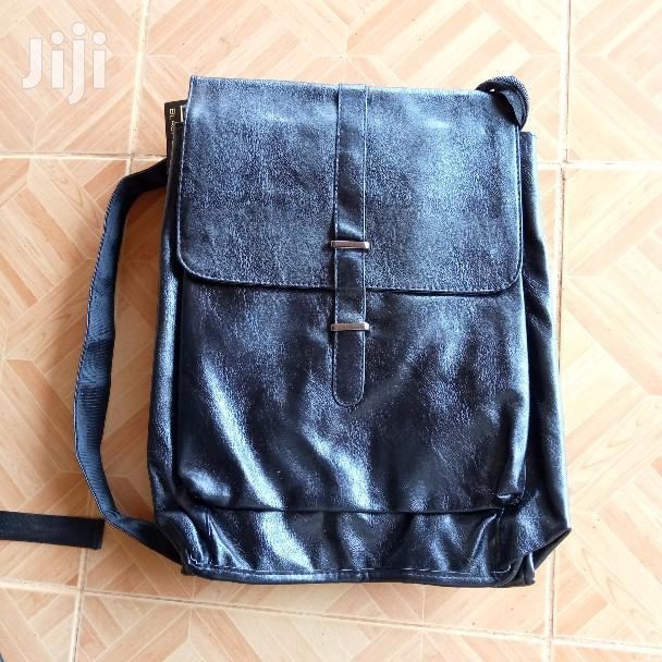 Black Label Hipster Leather Backpack