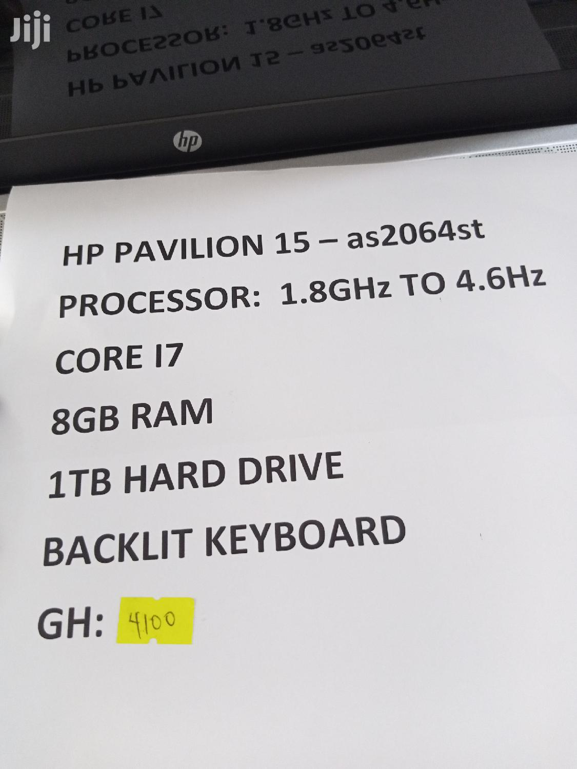 New Laptop HP Pavilion 15 8GB Intel Core i7 HDD 1T | Laptops & Computers for sale in Accra Metropolitan, Greater Accra, Ghana