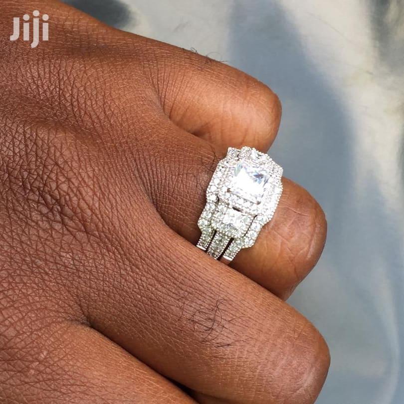 2.2 Carats Sterling Silver Wedding Rings 3 Pieces | Wedding Wear & Accessories for sale in Kumasi Metropolitan, Ashanti, Ghana