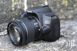Latest Fresh Canon EOS 250D Wifi DSLR Camera + EF-S 18-55mm | Photo & Video Cameras for sale in Greater Accra, Adabraka