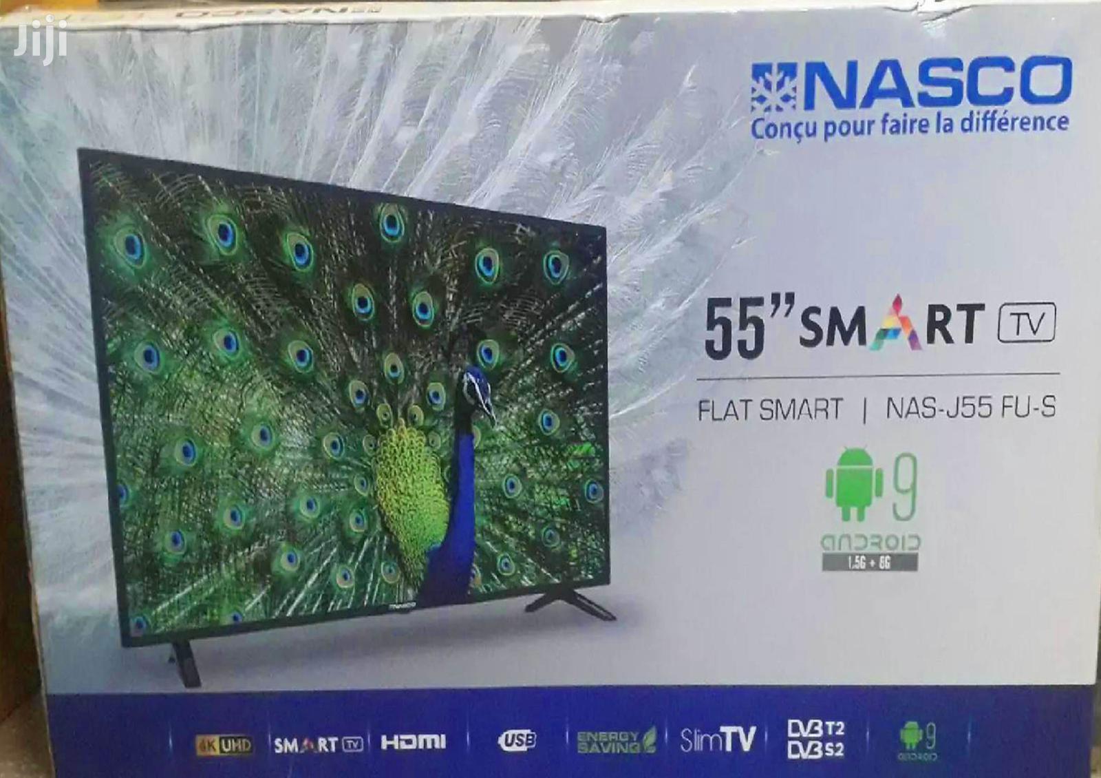"""Nasco 55"""" Digital, Smart. 4k, LED TV."""