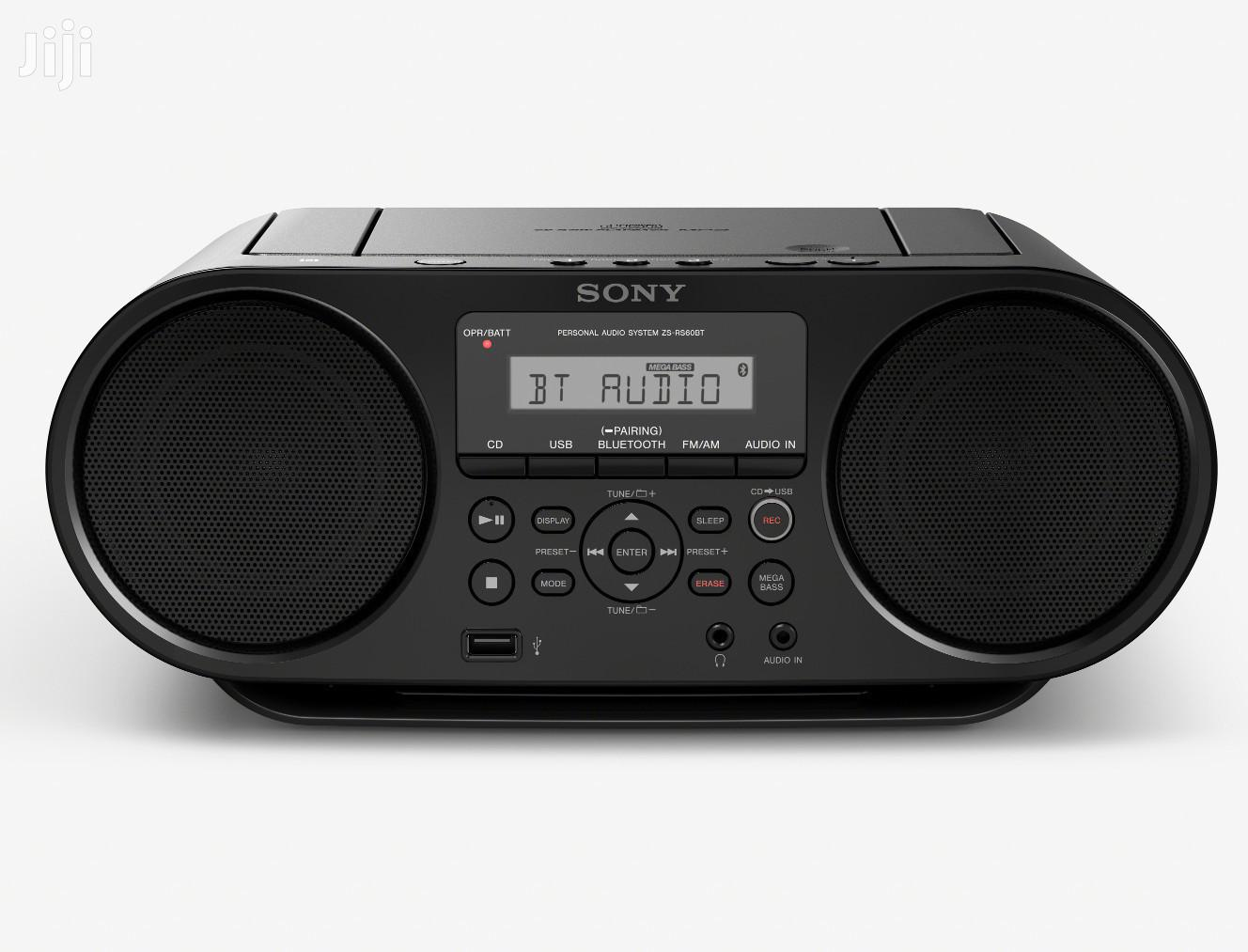 Sony ZSRS60BT CD Boombox With Bluetooth and NFC (Black) | Audio & Music Equipment for sale in Adenta, Greater Accra, Ghana