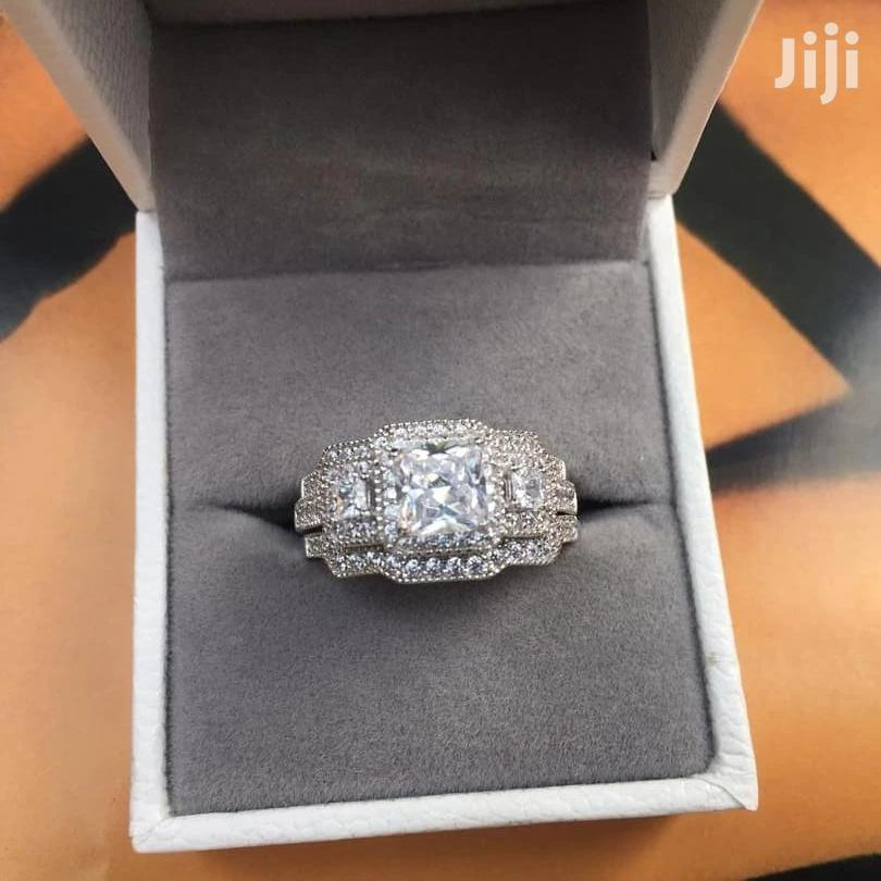 2.2 Carats Sterling Silver Wedding Rings 3 Pieces