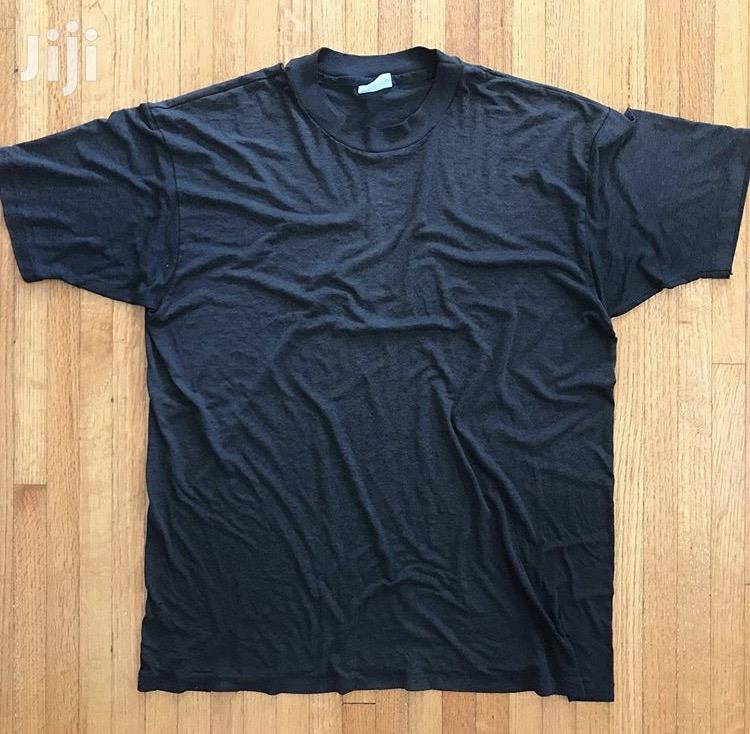 Cotton Gym T Shirt Plain Black