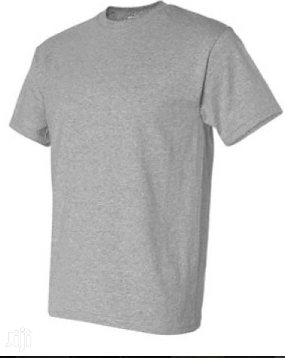 Ash and White Plain T-Shirt