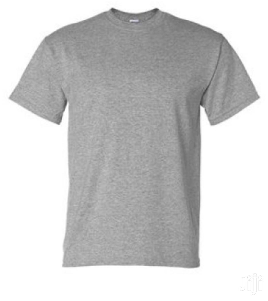 Ash and White Plain T-Shirt | Clothing for sale in Darkuman, Greater Accra, Ghana