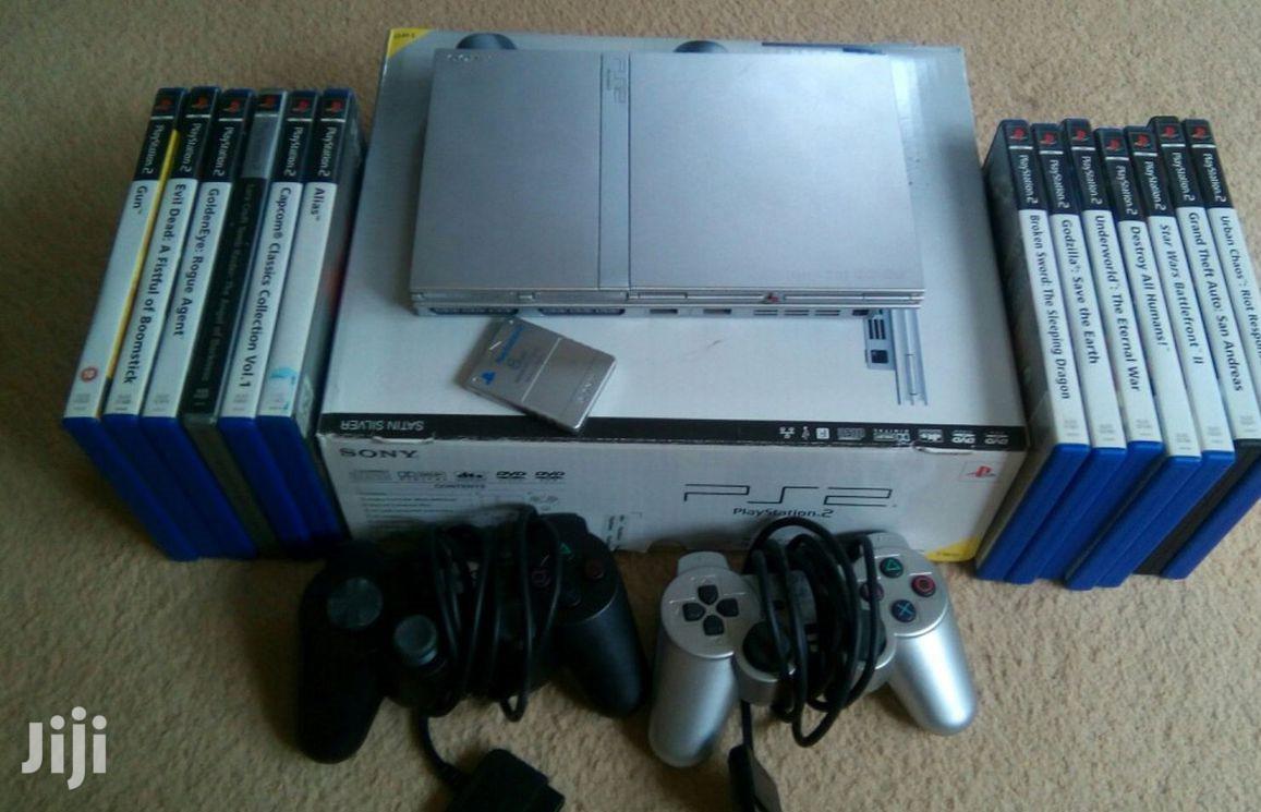 Used Playstation Ps2 Slim Set