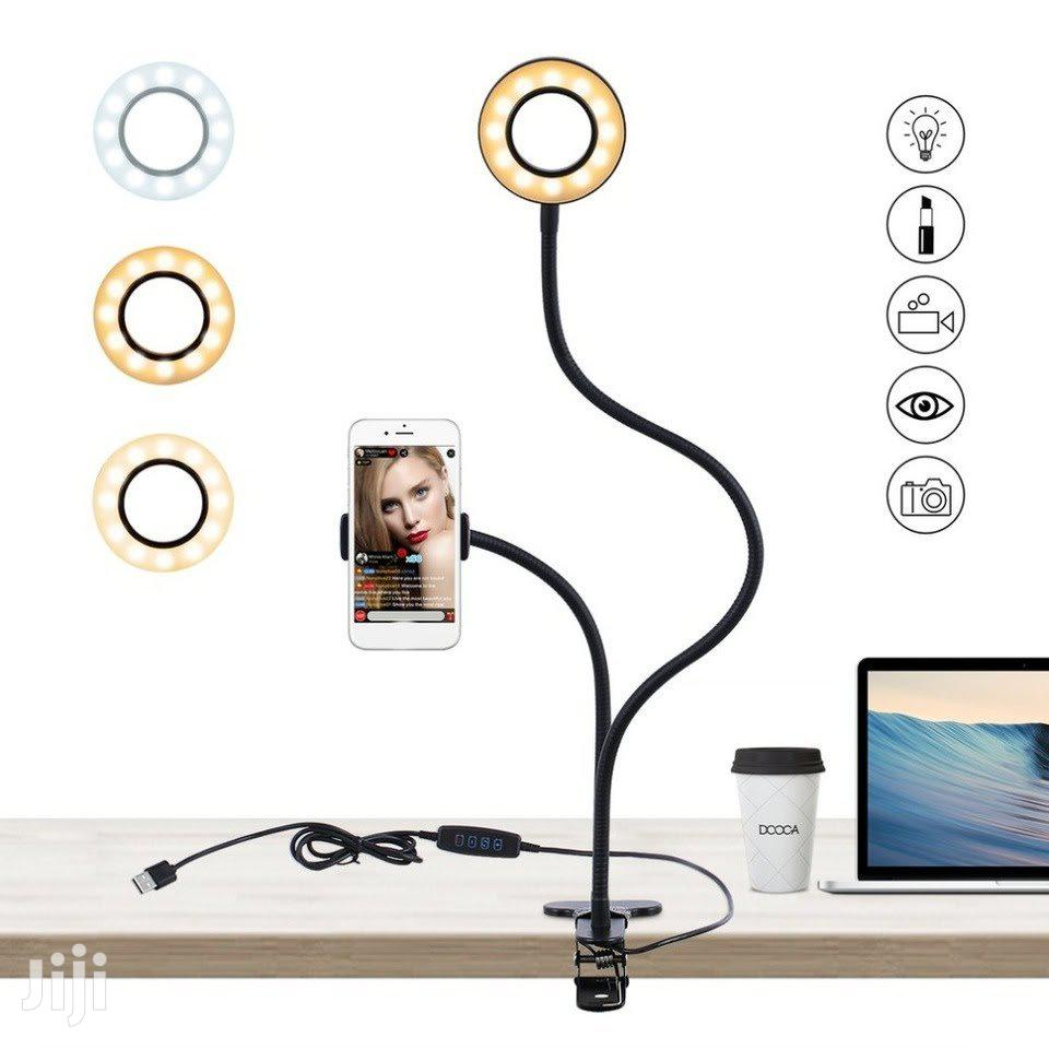 2-in-1 Phone Holder With 8inch Ring Light For Live Streaming | Accessories for Mobile Phones & Tablets for sale in Accra Metropolitan, Greater Accra, Ghana
