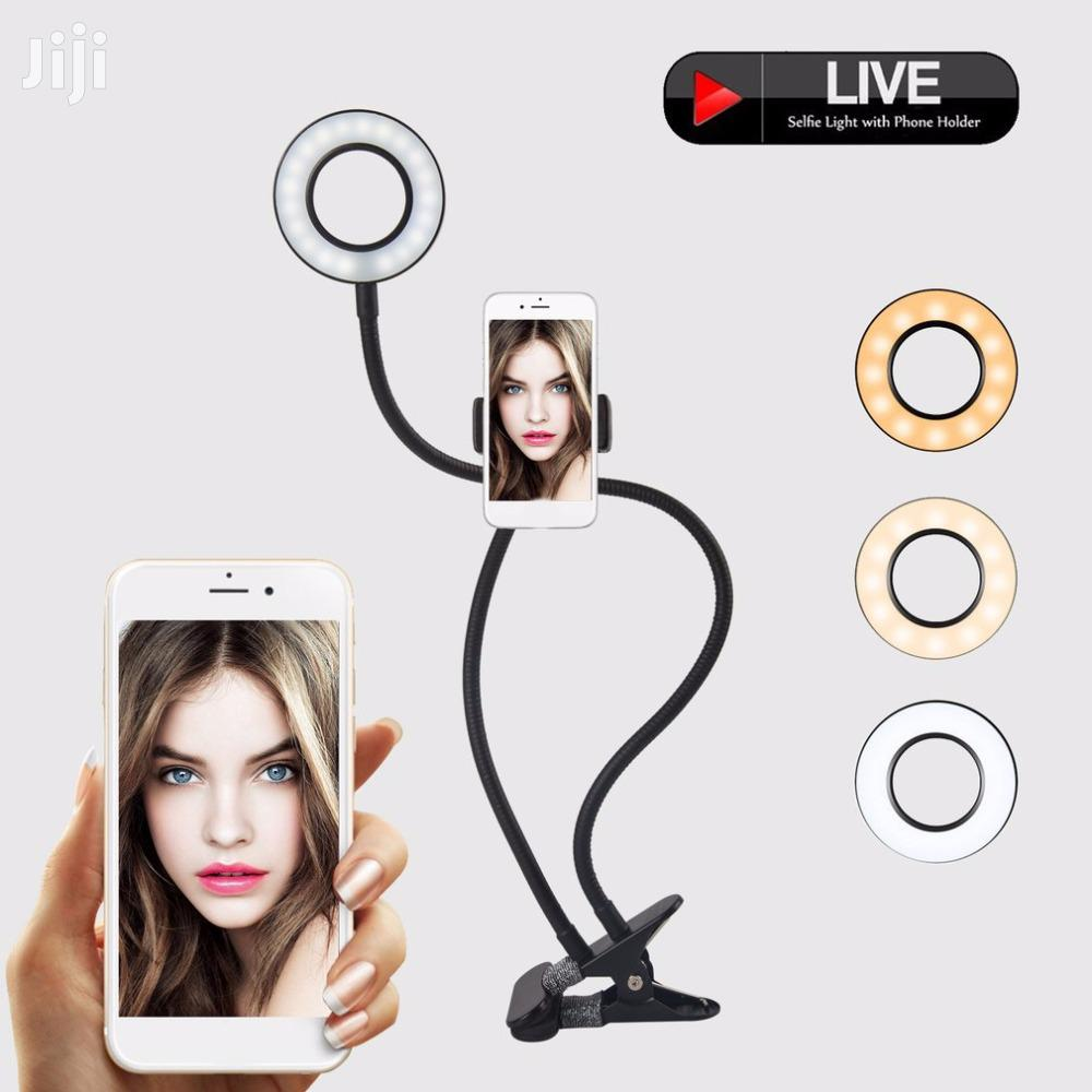 2-in-1 Phone Holder With 8inch Ring Light For Live Streaming