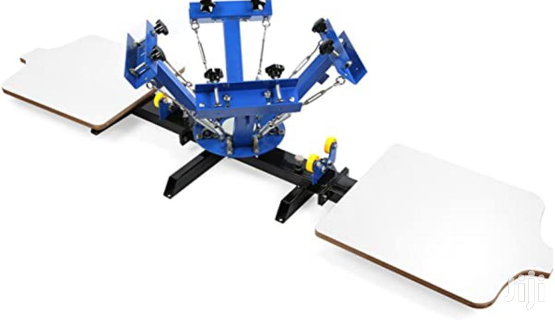 Archive: 4 Color 2 Station Screen Printing Machine For T Shirt