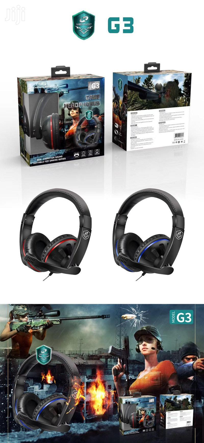G3 Gaming Headsets With Mic | Headphones for sale in Accra Metropolitan, Greater Accra, Ghana