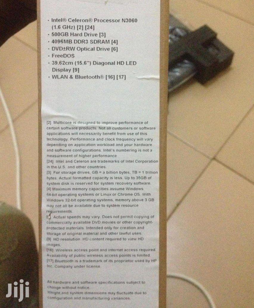 Archive: New Laptop HP 4GB Intel Celeron HDD 500GB
