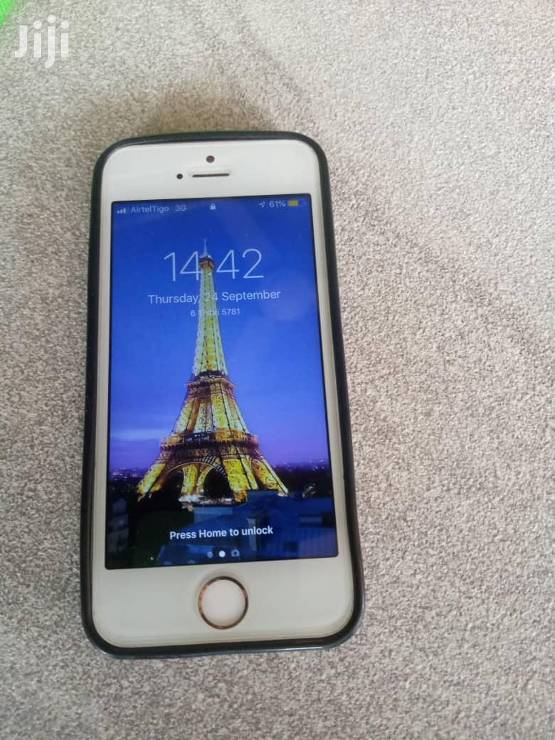Apple iPhone 5s 16 GB Silver   Mobile Phones for sale in Asuogyaman, Eastern Region, Ghana
