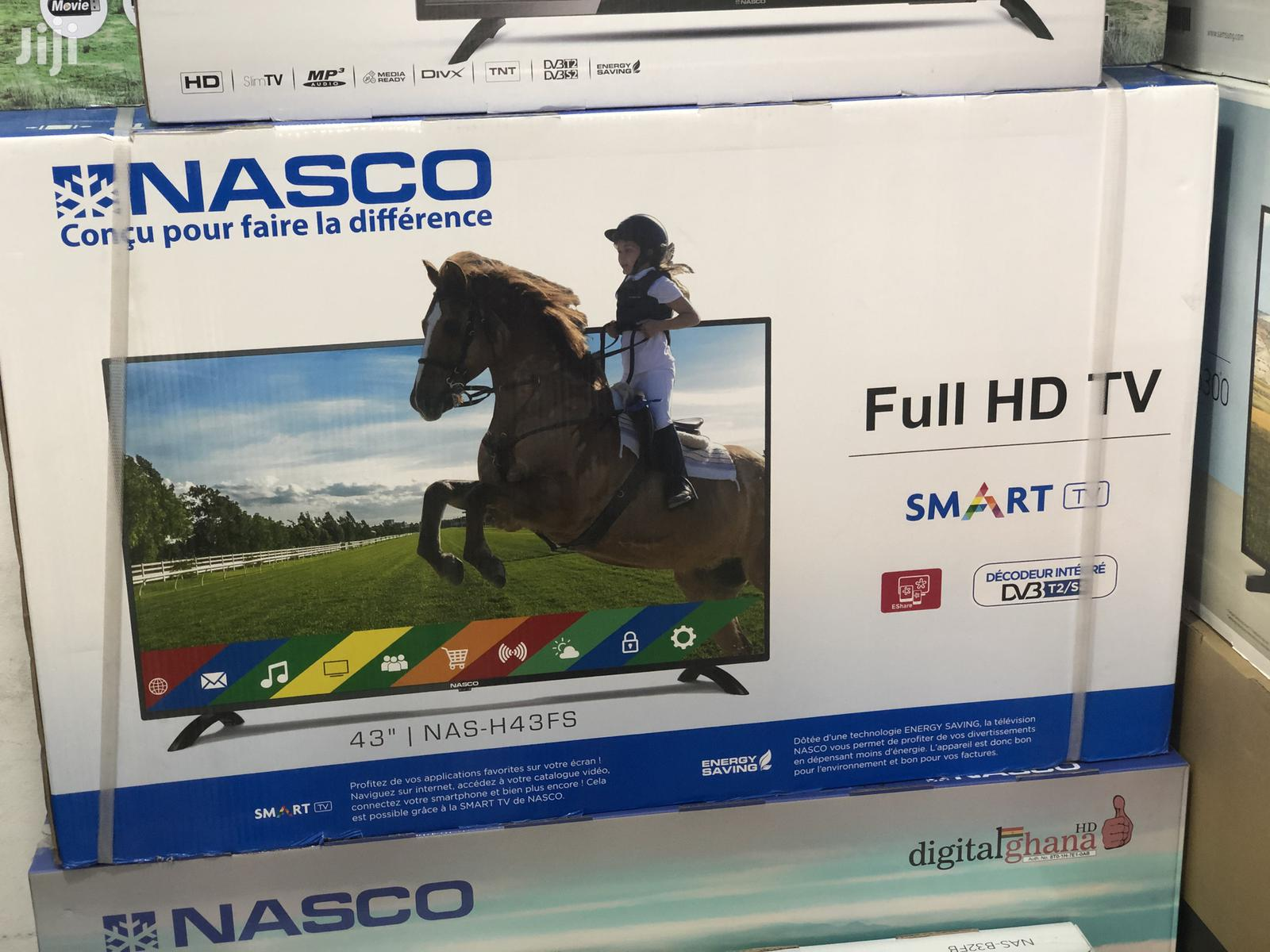 "Nasco 43"" Digital Satellite Smart Led Tv"