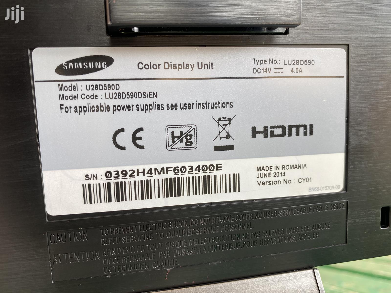 "Samsung 4K 28"" Inches UHD Gaming Monitor | Computer Monitors for sale in Kumasi Metropolitan, Ashanti, Ghana"