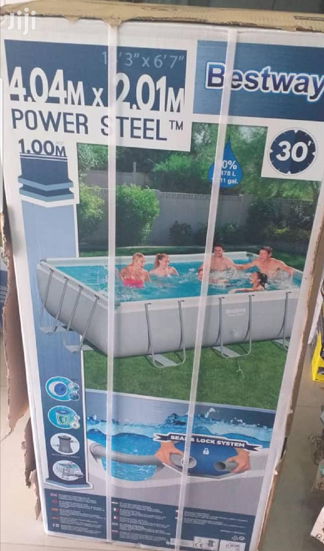 4.04m Bestway Swimming Pool 14ft X 1m Ladder