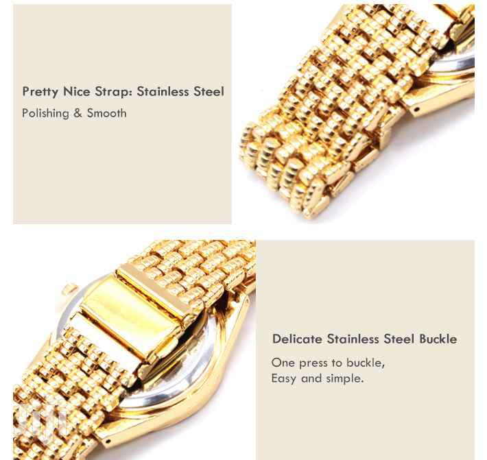 Geneva Alloy Brand Quartz Watch Luxury(Gold) | Watches for sale in Ga East Municipal, Greater Accra, Ghana