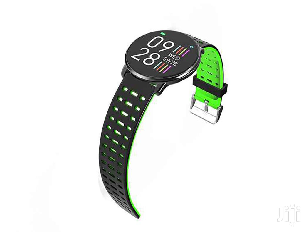 Lzefia Q88 Smart Watch Silicon Metal Glass Bluetooth | Smart Watches & Trackers for sale in Ga East Municipal, Greater Accra, Ghana