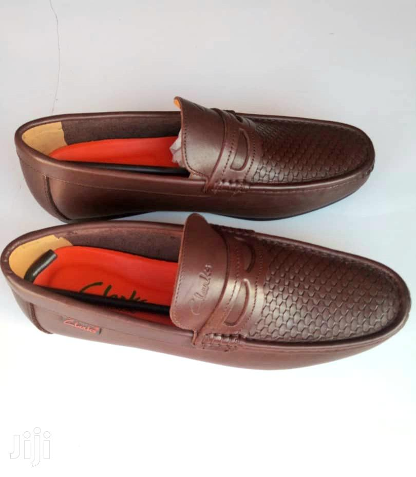 Clarks Brown Leather Loafers-sz 43 | Shoes for sale in Ga West Municipal, Greater Accra, Ghana