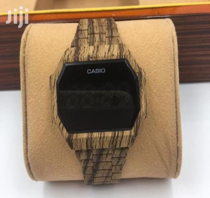 Casio Wooden Touch Watch
