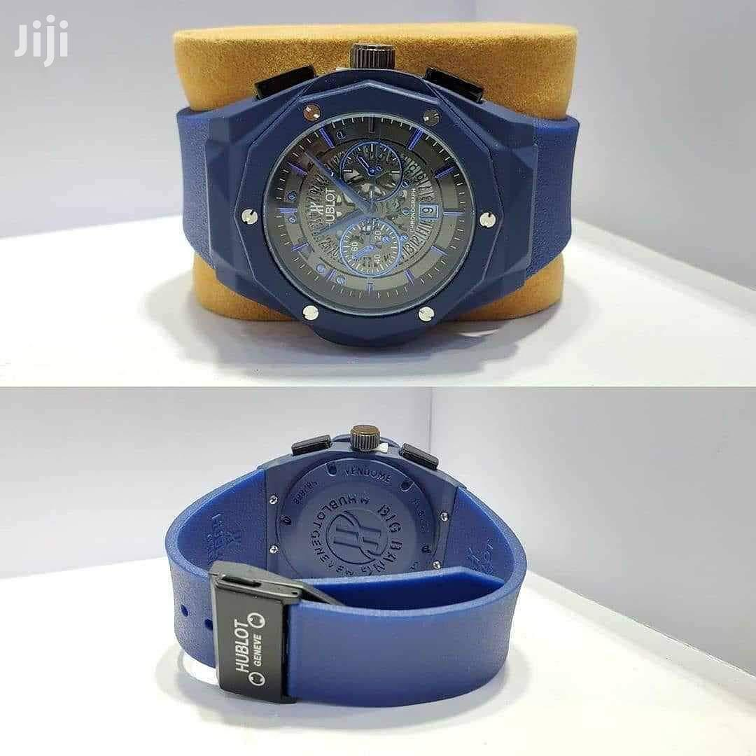Archive: Hublot All Blue Chronograph Watch