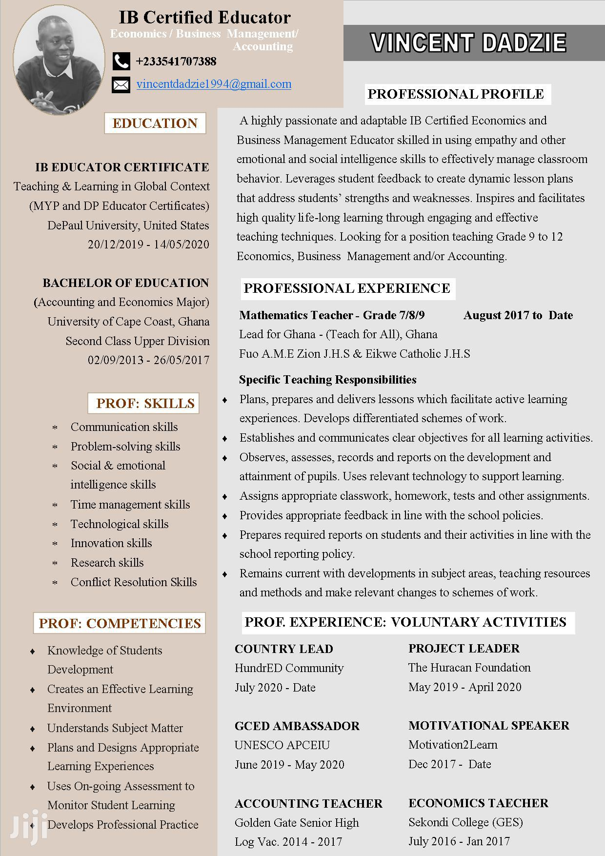 2020 Professional Resume For Your Dream Job