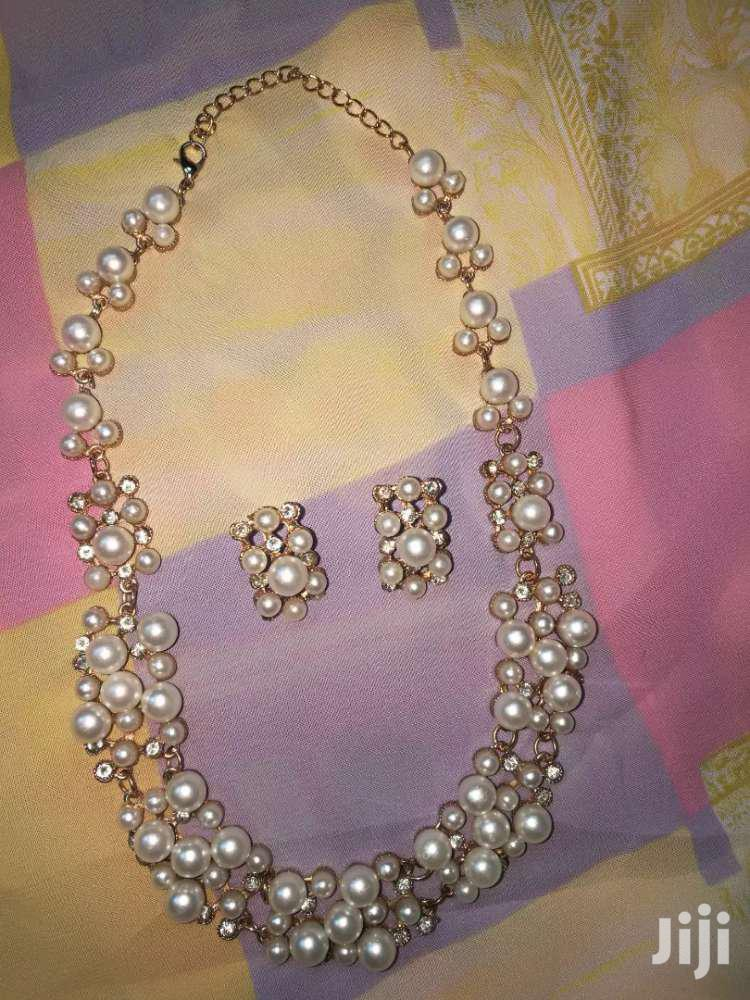 Pearls Necklace and Earrings Set   Jewelry for sale in Tema Metropolitan, Greater Accra, Ghana