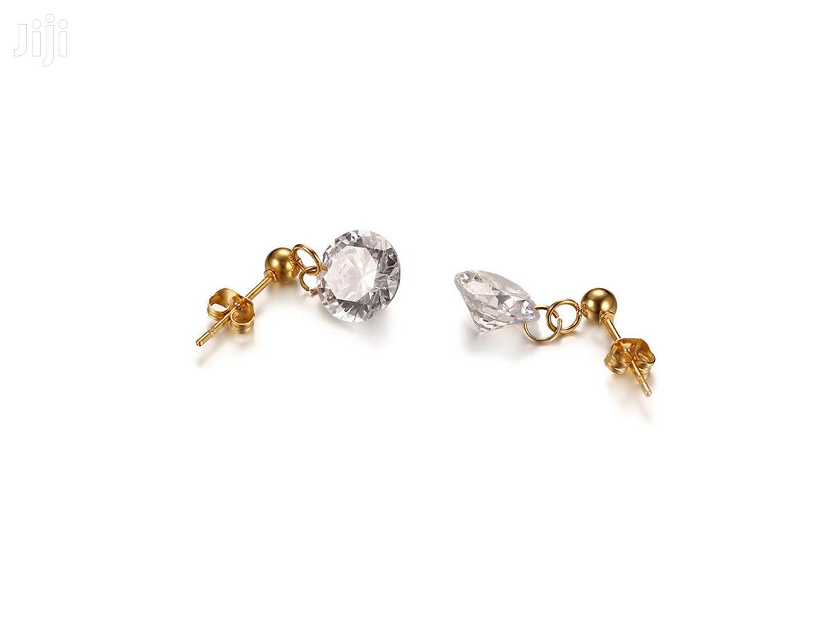 Crystal Diamond Earrings | Jewelry for sale in Accra Metropolitan, Greater Accra, Ghana
