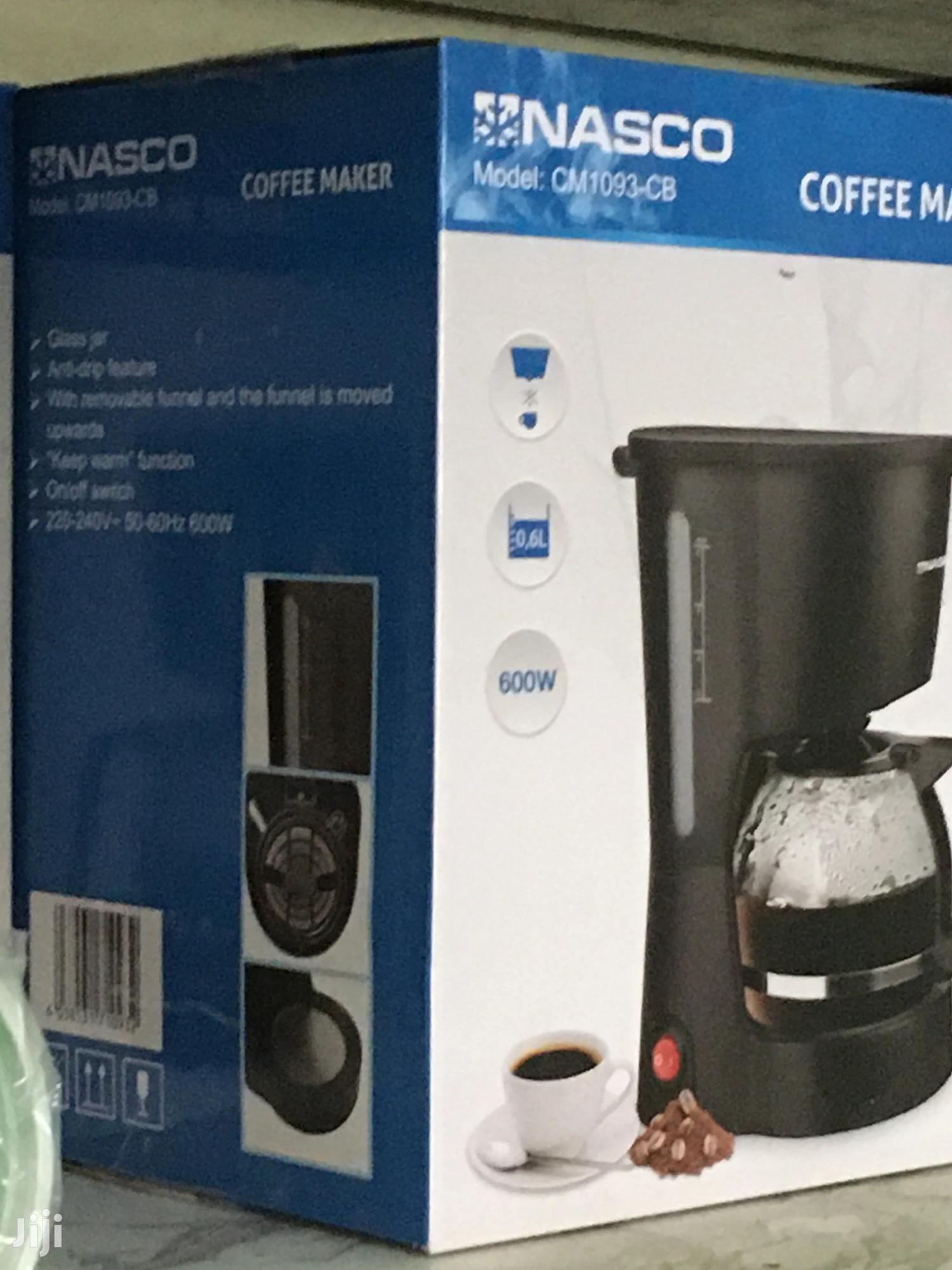 Archive: Nasco Coffee Maker (Cm1093-cb) Black Color- New