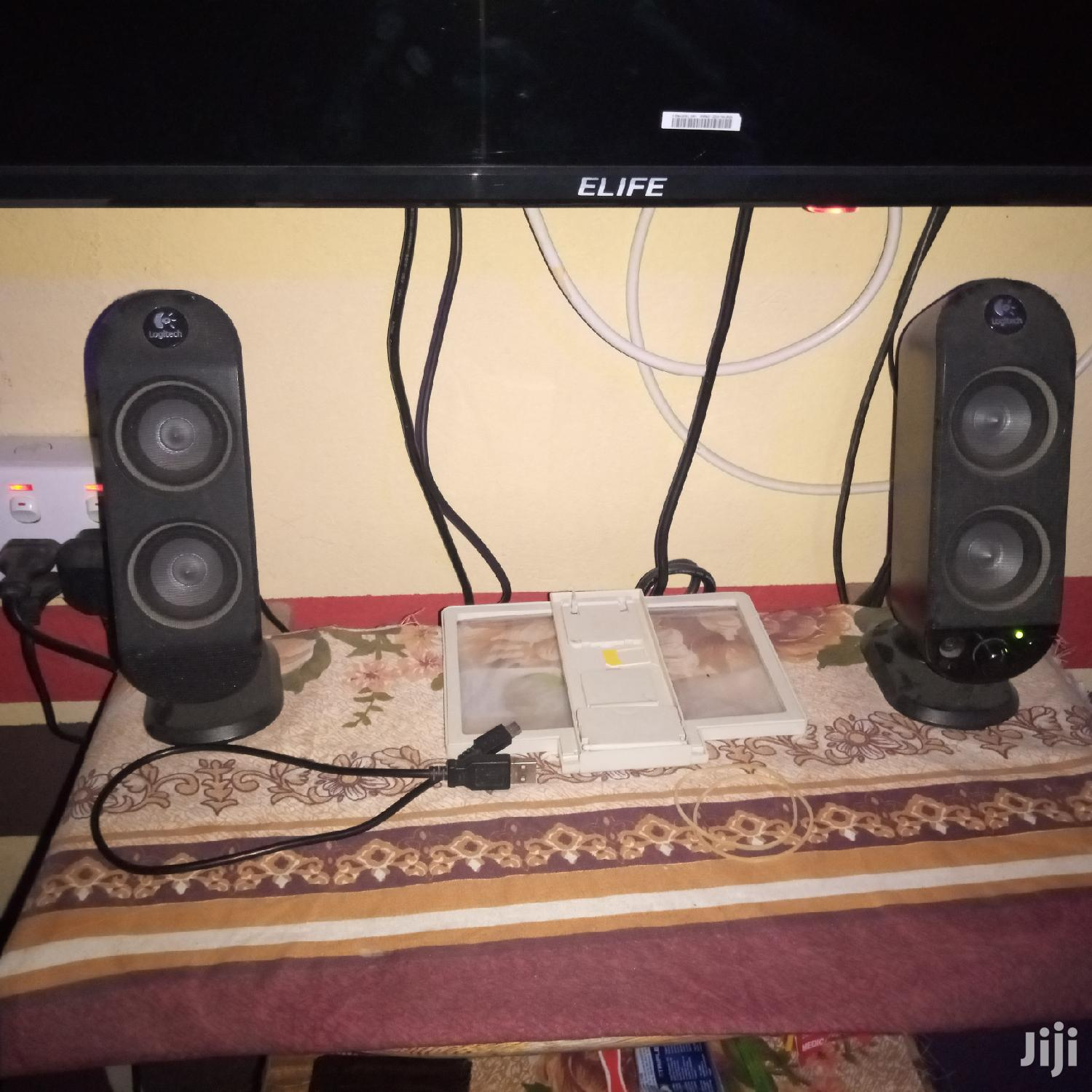 Archive: Logitech Sound System With Two Surrounding Speakers