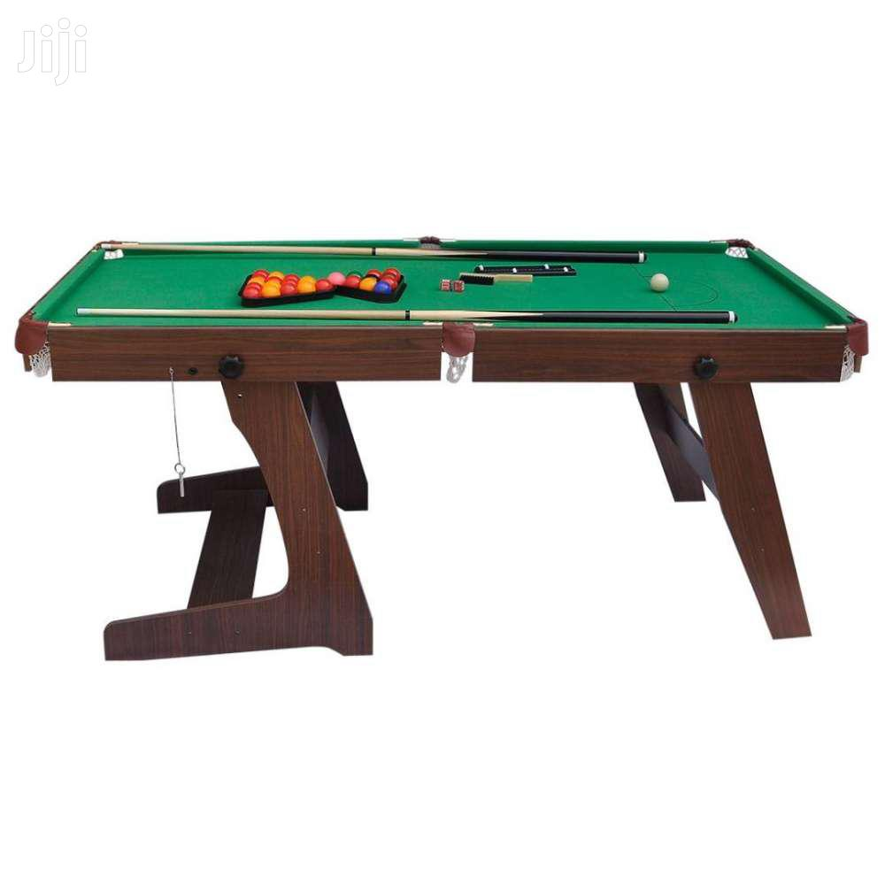 Folding Green Billiards Snooker/Pool Table.