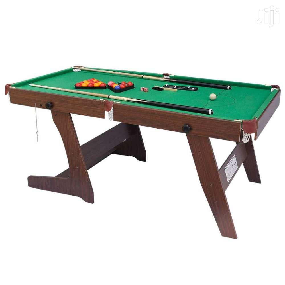 Folding Green Billiards Snooker/Pool Table. | Sports Equipment for sale in Adenta Municipal, Greater Accra, Ghana