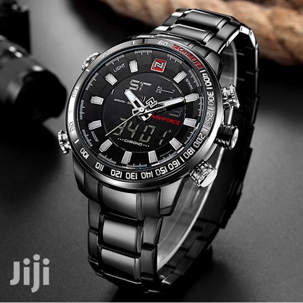 Archive: Men's Sports Naviforce Metal Wrist Quartz Watch