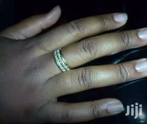Gold/Silver Dual Plated Inlaid Crystal Unisex Ring   Jewelry for sale in Greater Accra, Adenta