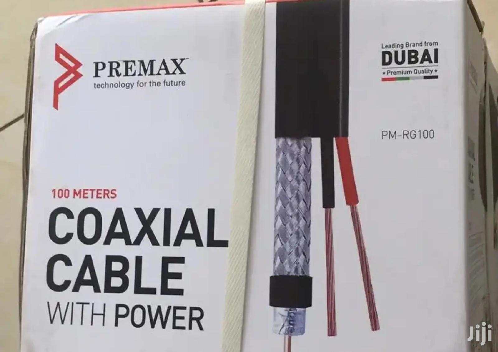 Brand New Coaxial Cable +Power 100 Meters