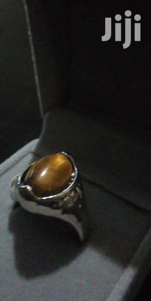 Genuine Tiger-eye Stone Silver Plated Classy Ring   Jewelry for sale in Greater Accra, Adenta