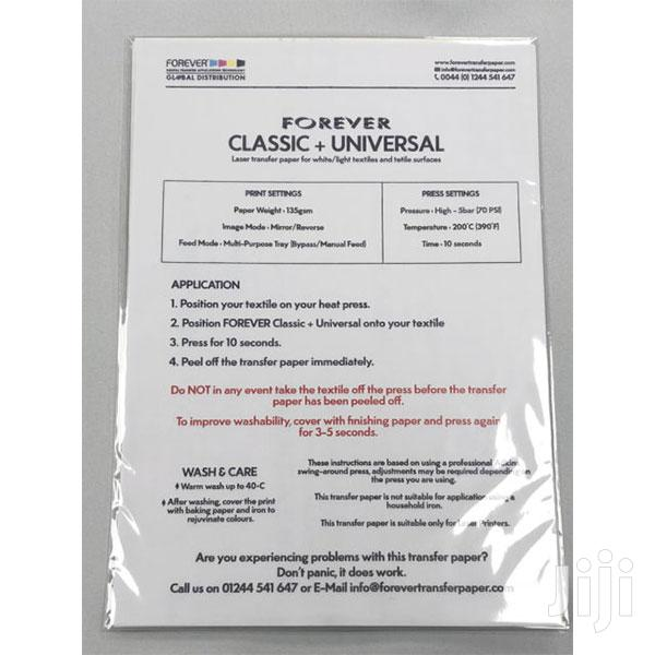 Archive: A4 Heat Transfer Papers 50 Sheets
