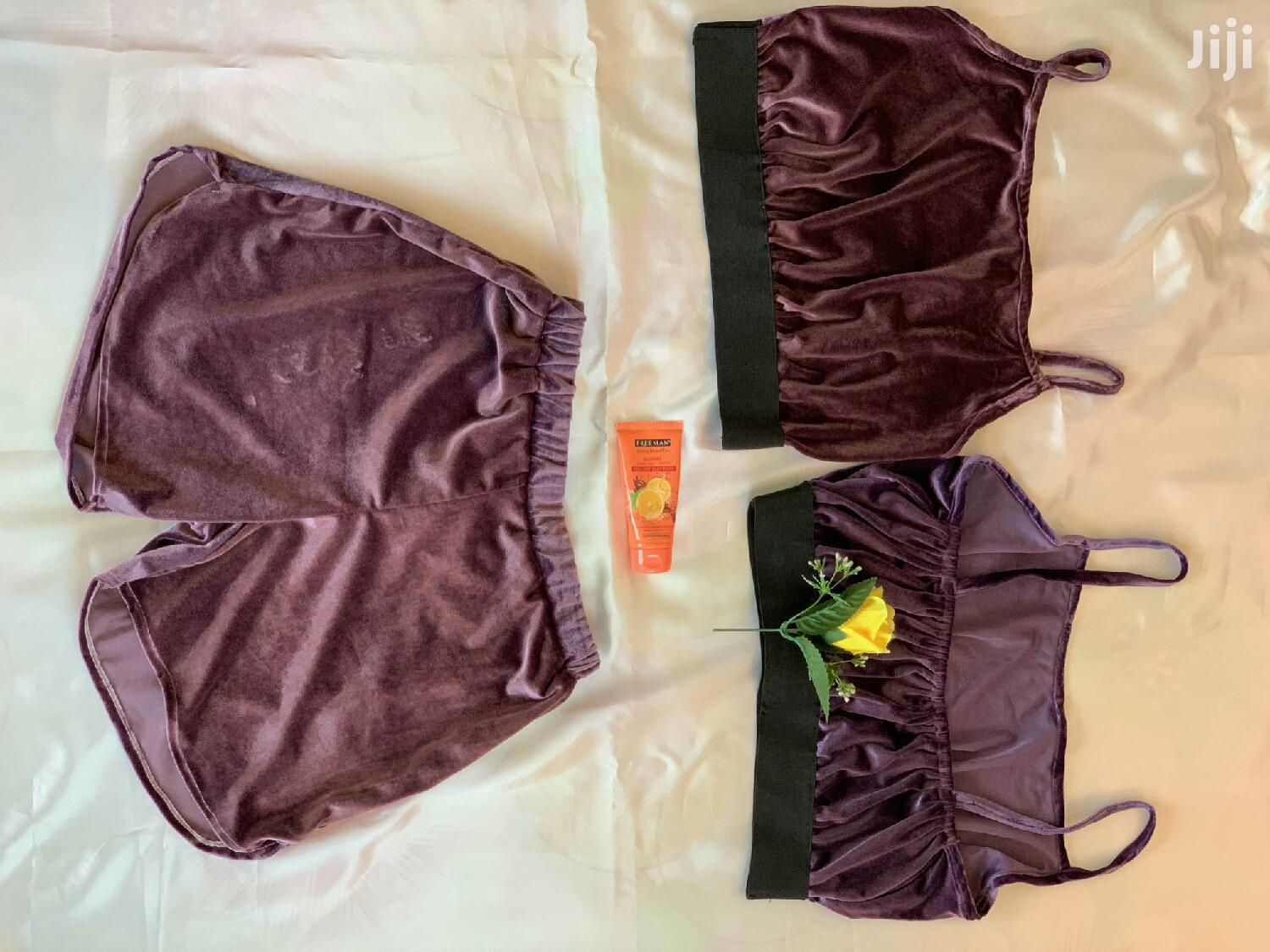 Handmade Velvet Crop Top And Shorts   Clothing for sale in Accra Metropolitan, Greater Accra, Ghana