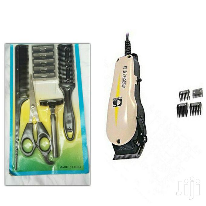Chaoba Professional Hair Clipper With Set of Comb Off- White