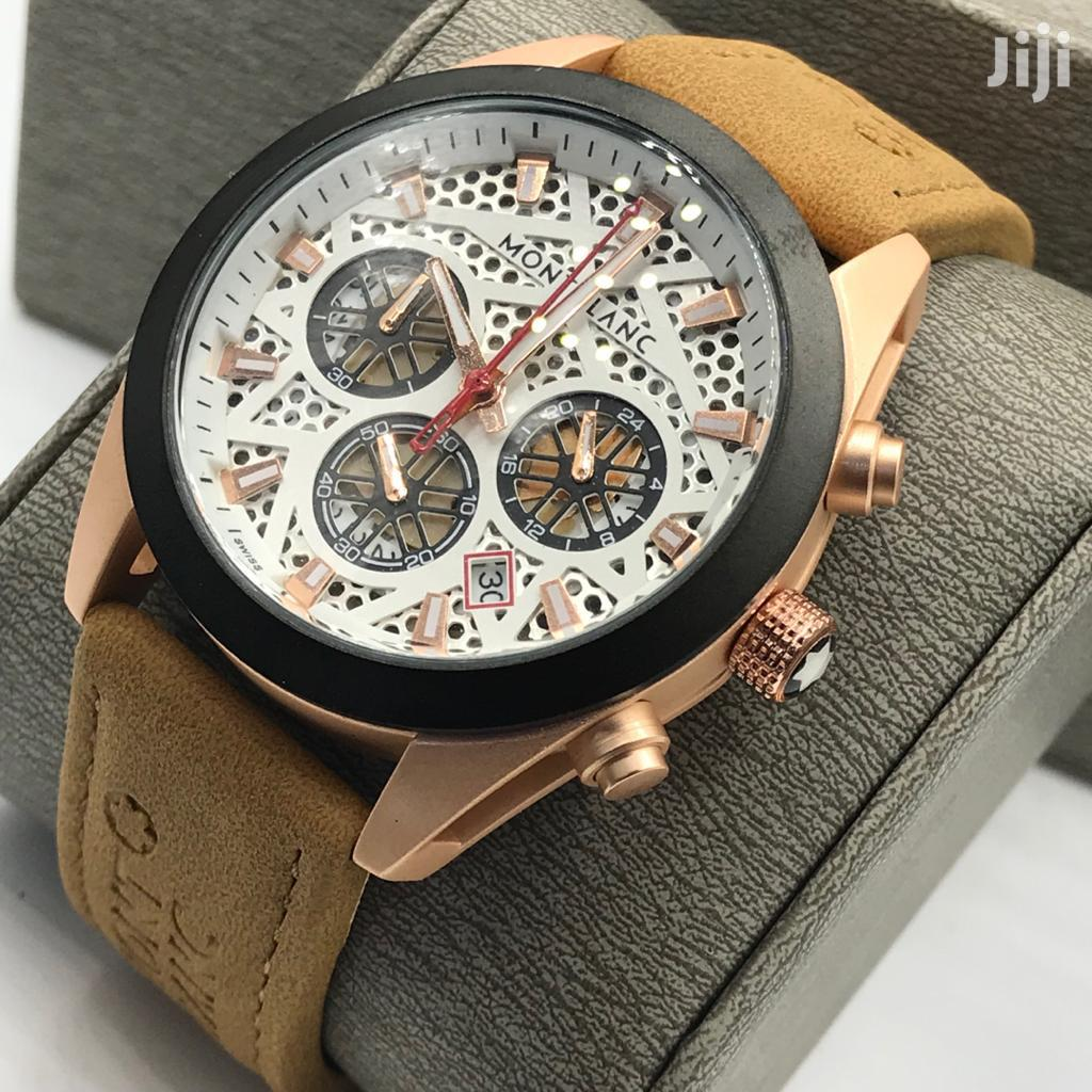 Archive: Montblanc Leather Watch